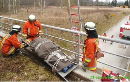 Einsatzübung Personenrettung über Leiter